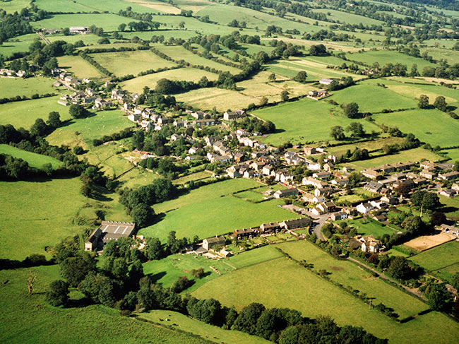 Aerial view of Grindleton
